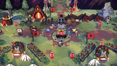 Cult of the Lamb is a blend of genres, as well as a blend of 2D and 3D visual styles.
